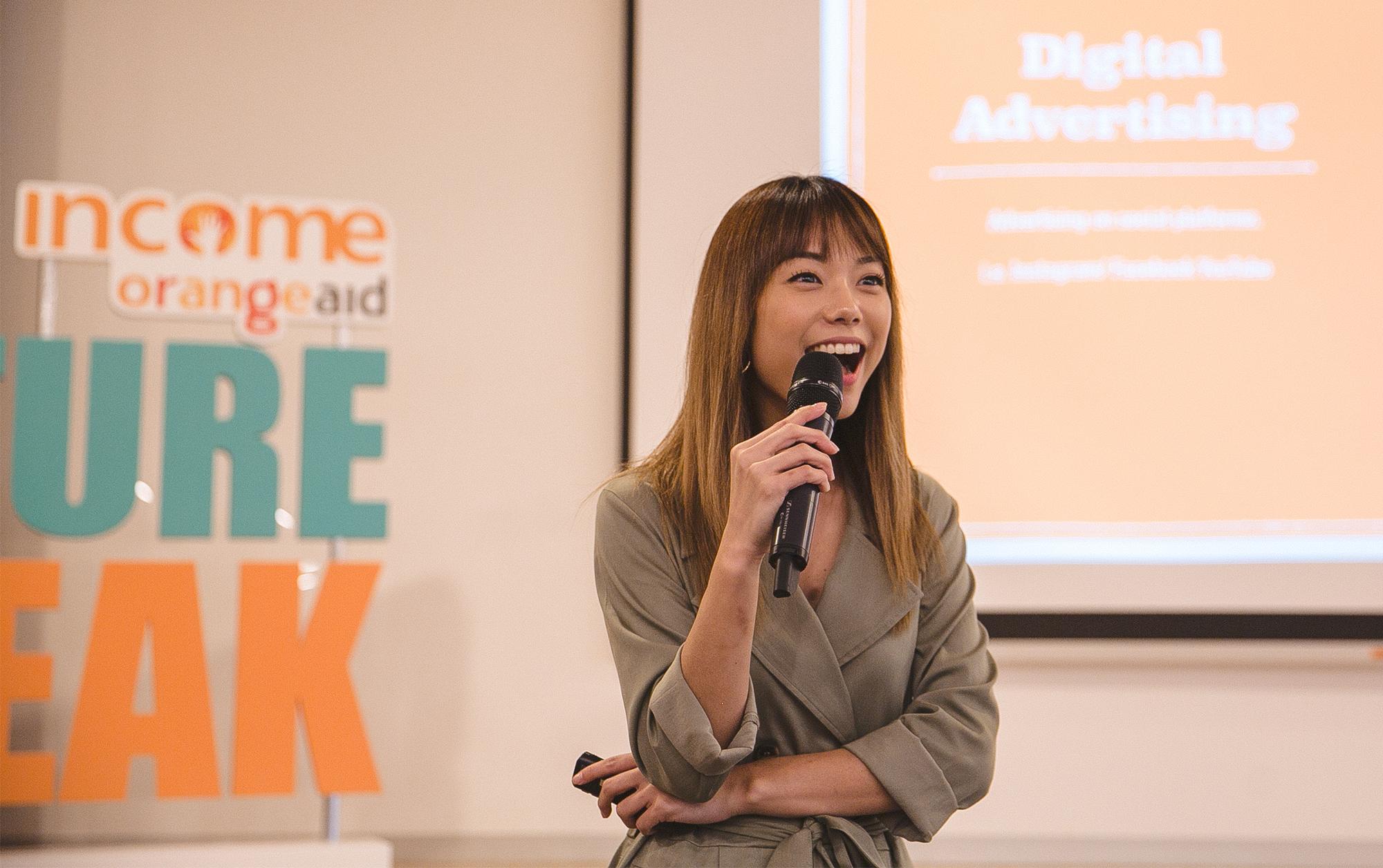 Speaking at Income OrangeAid's #FutureSpeak Seminar